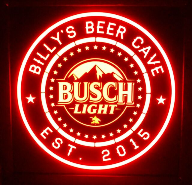 Busch light Beer LED Sign Personalized, Home bar pub Sign