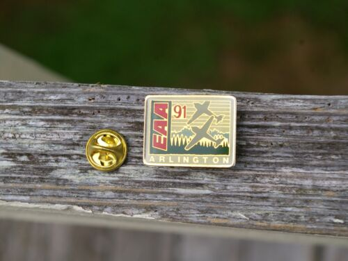 1991 Northwest EAA FlyIn Arlington WA Air Show Washington Pin Pinback