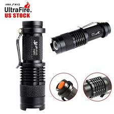 2pcs 8000Lumens LED Zoom Adjustable Focus Mini Torch 14500 AA Flashlight Lamp TL