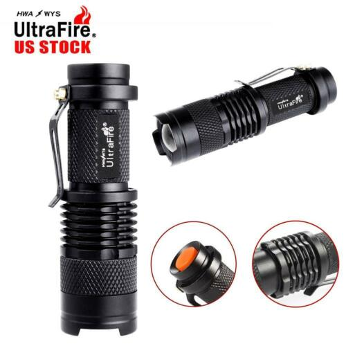 10000LM X-XM-L T6 LED Zoomable Flashlight Torch Lamp Light 18650//AAA 5-Mode ZH