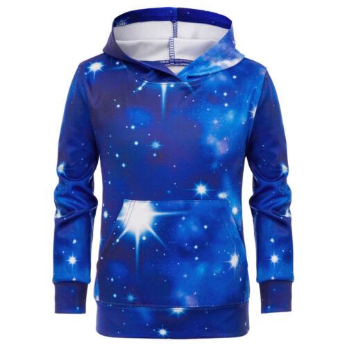 Children Kids Girls Digital Printing Hooded Coat Pocket Hoodies Pullover Tops