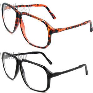 New-Large-Oversized-Retro-Vintage-Clear-Lens-Glasses-Frame-Fashion-Nerd-Geek-80s