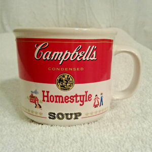 Campbells Soup Mug 1991 Homestyle red white cup