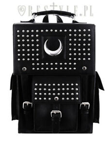 Restyle-Iron-Moon-Vegan-Leather-Punk-Goth-NuGoth-Rocker-Book-Bag-Backpack
