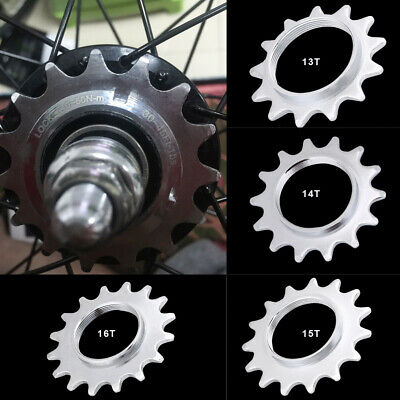 New Fixie Track Sprocket Fixed Gear Single Speed Cog Threaded Lock Ring 16T