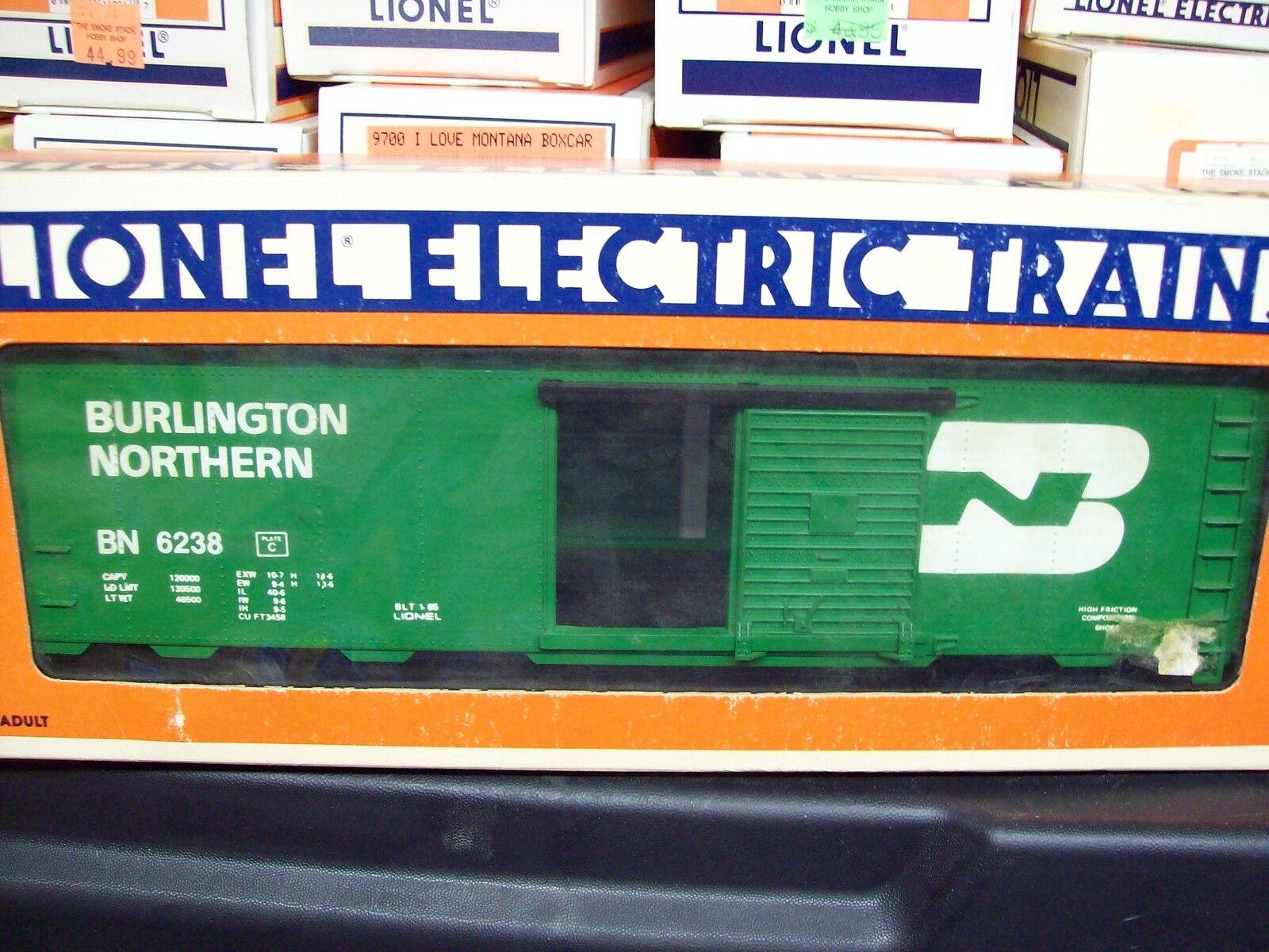Lionel O Gauge Trains BN Burlington Northern Standard O Box Car 6-6238