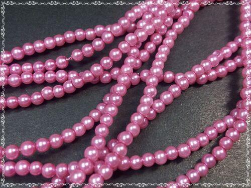 100 despierta perlas 3mm Pink abalorios de vidrio redondo despierta perlas