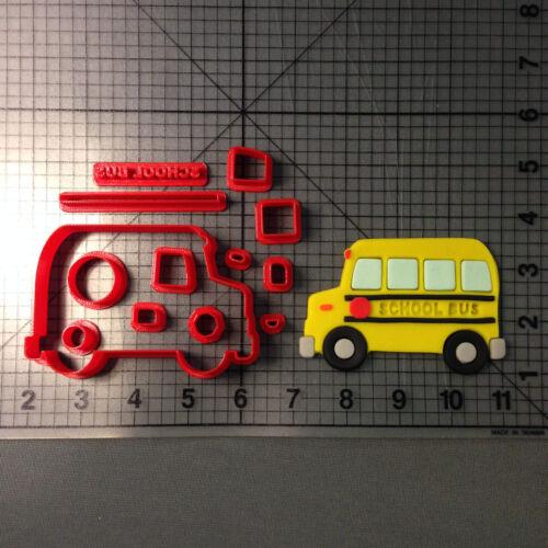 School Bus 266-A487 Cookie Cutter Set