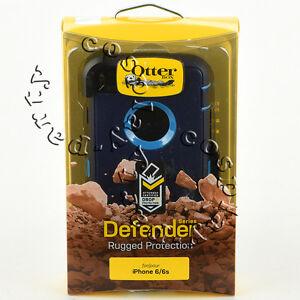 OtterBox Defender Series Case Cover iPhone 6 / 6s Holster Indigo Harbor Blue
