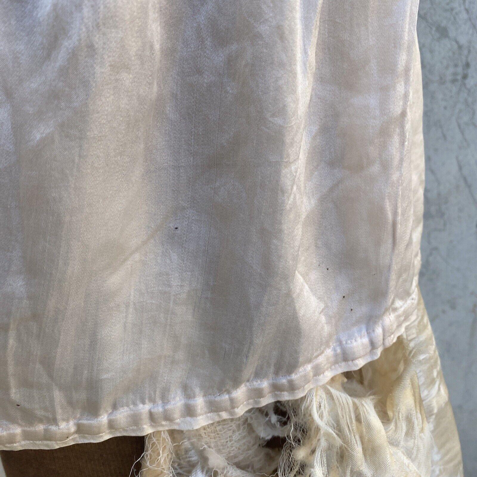 Antique Edwardian Pink Silk Blouse Corset Cover R… - image 10
