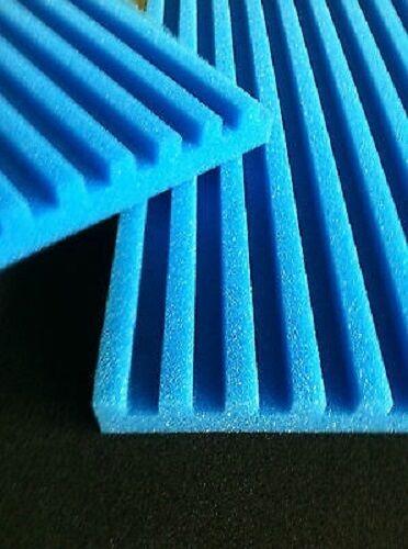 Filterschaum Filtermatten T-Profil blau 200 x 100 x 7 cm Porendichte wählbar