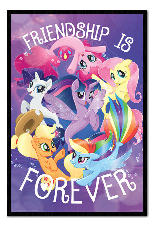 My Little Pony Movie Friendship Is Forever Poster Framed Cork Pin Board