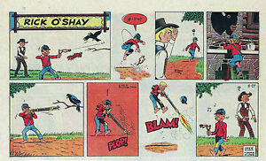 Rick-O-039-Shay-by-Stan-Lynde-half-tab-color-Sunday-comic-page-August-27-1961