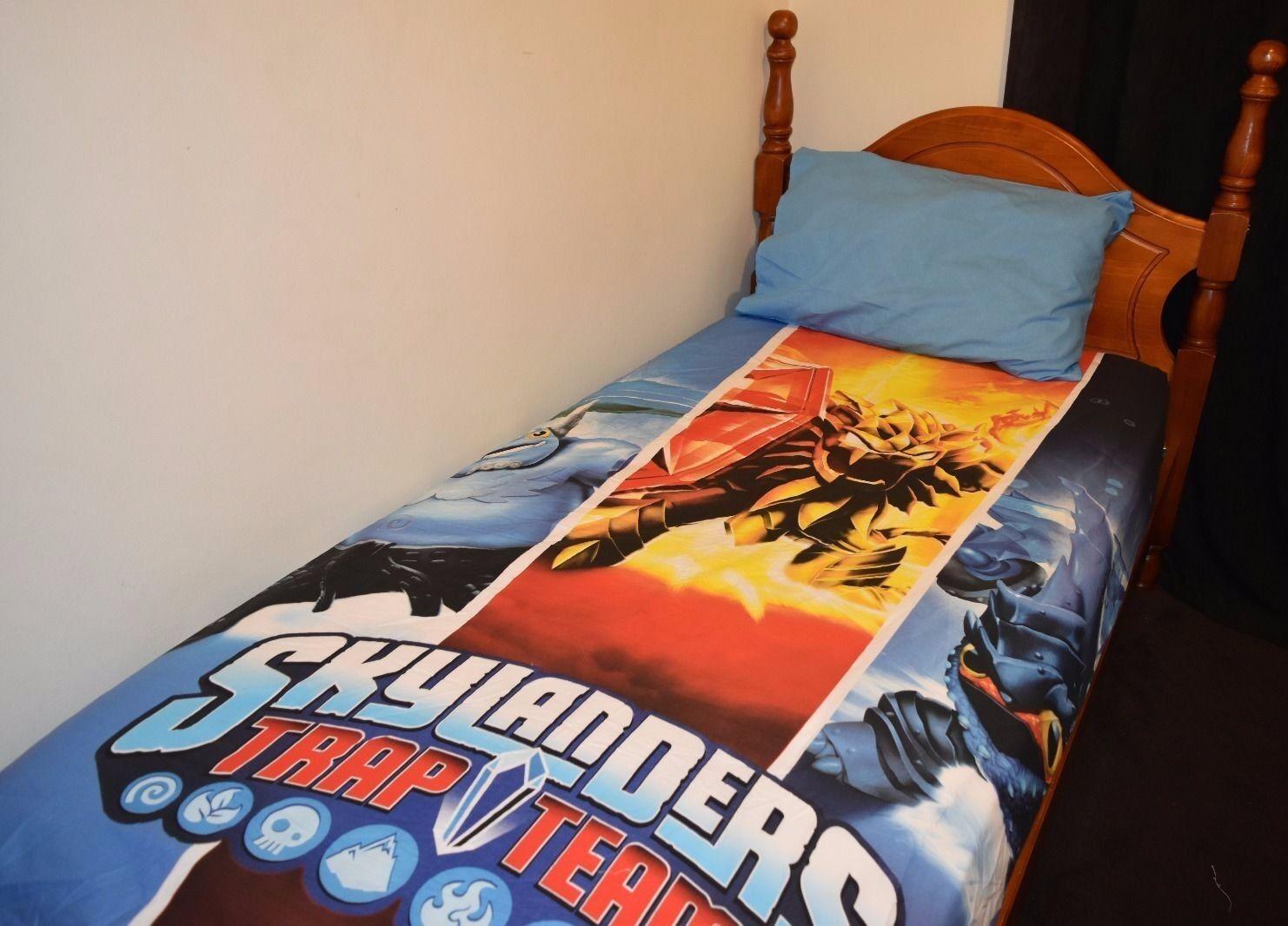 SkyLanders Quilt Doona Duvet Cover Set Boys Bedding Kids Trap Team Toy Spyro