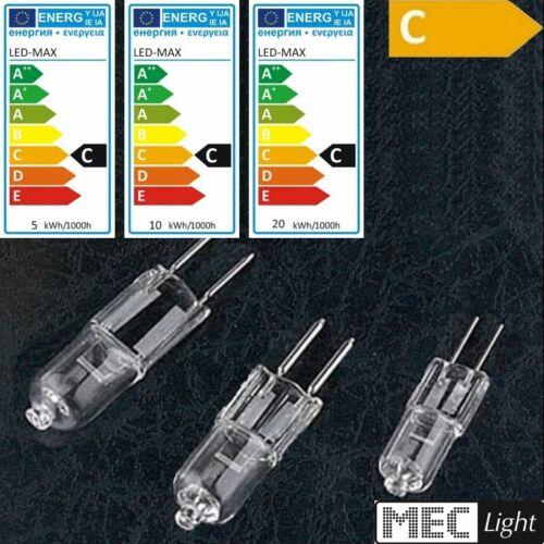 5x G6,35//GY6,35 Halogen Leuchtmittel NV 20W//35W//50W