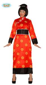 altamente elogiato limpido in vista alta moda Dettagli su GUIRCA Costume vestito cinese carnevale donna adulto mod. 84387