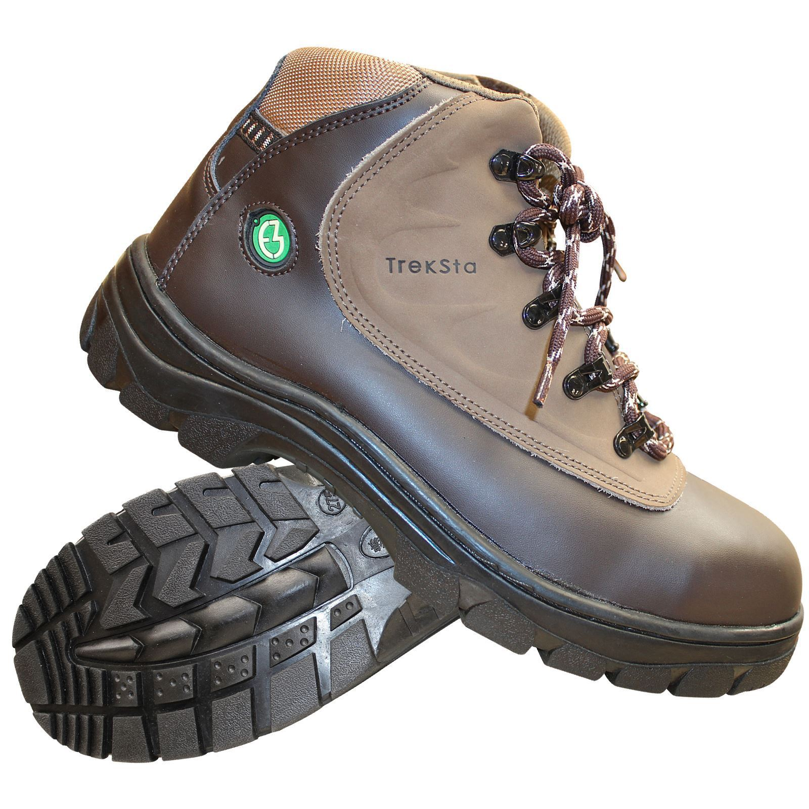 New Treksta Men Safety Top Work Boots Hiking Steel Top Safety Cap Composite Hiker Hi Top 2f49c8