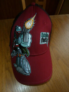 1eeb4de2 Details about Boba Fett Star Wars Bounty Hunter Mesh Trucker Hat Cap Disney  Maroon dark red