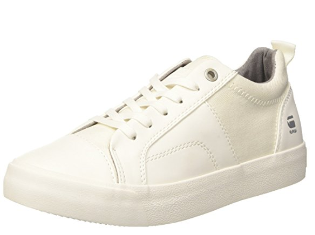 G Star Raw Scuba Plateau Womens Womens Womens UK 6 EU 39 White Faux Leather & Denim Trainers 922804