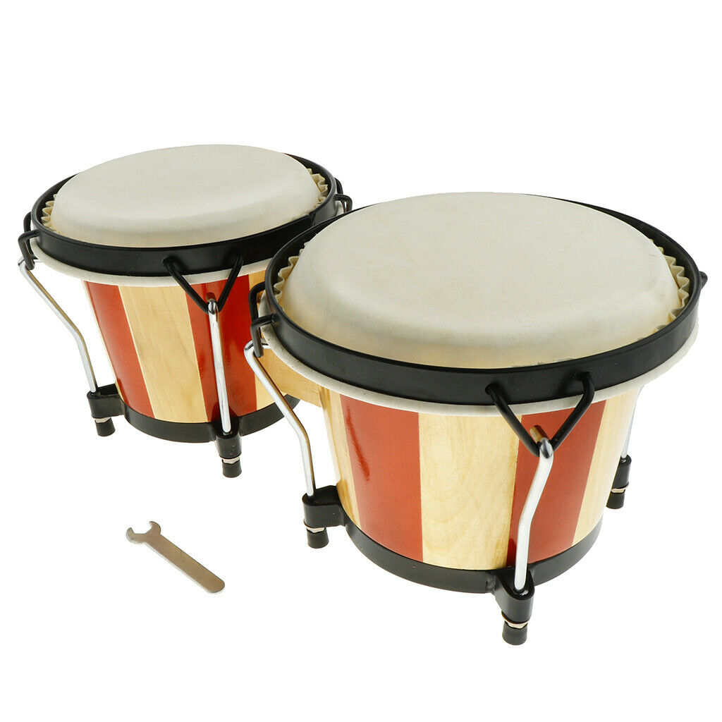 1 Set Holz Bongo Hand Trommel Hand Schlagzeug Spielzeug Für Kinder