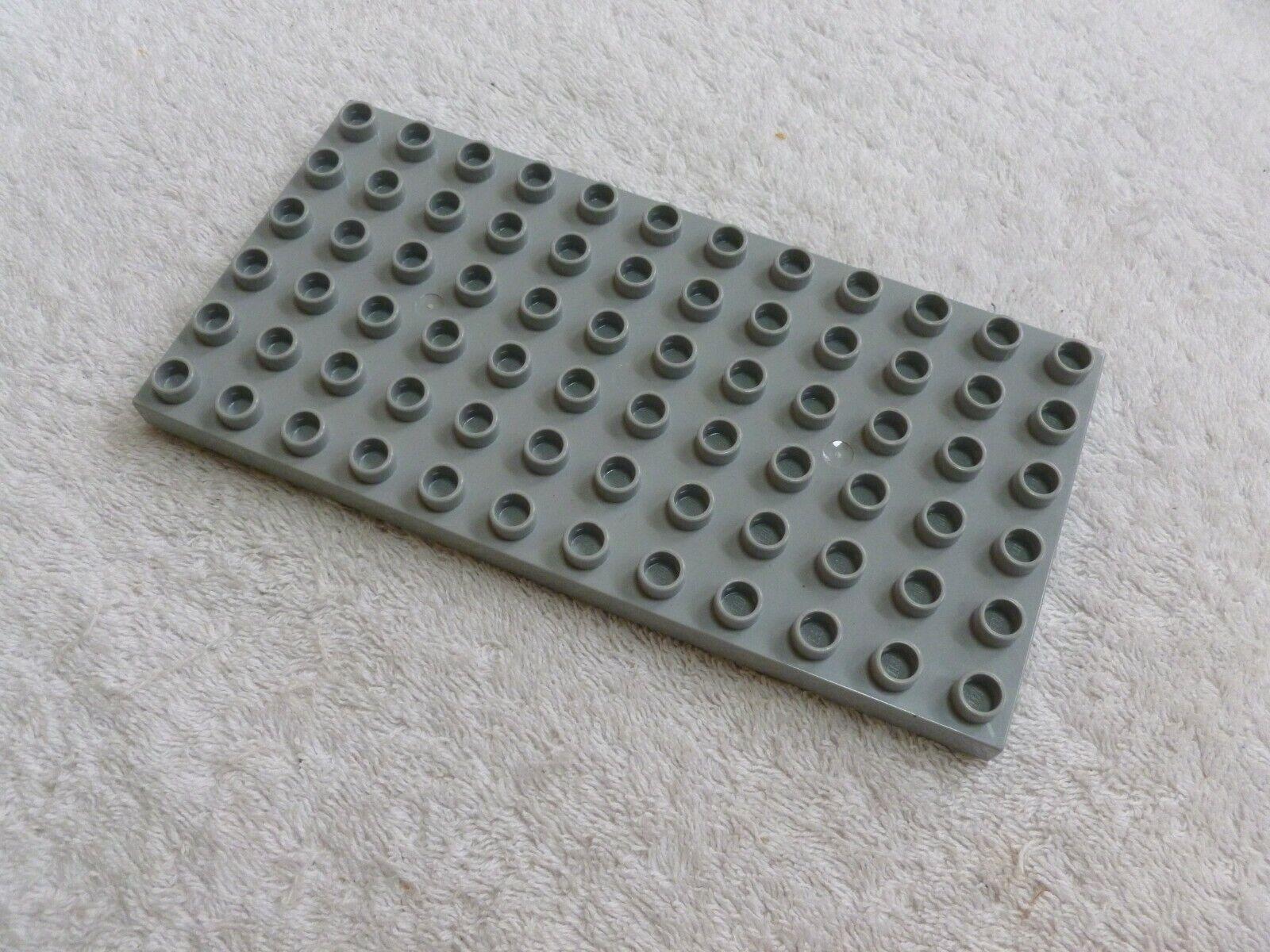 レゴ二重ベースプレート6 x 12ライトグレー- 1
