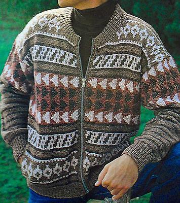 Vintage Tejer patrón para Calcetines de hombre