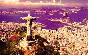 QUADRO-stampa-Rio-de-Janeiro-Brasile-TRAMONTO-GIa-CON-TELAIO-PRODOTTO-ITALIANO