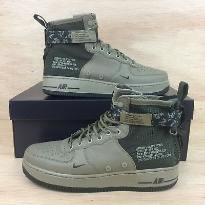 wholesale dealer a1fac 431ac Nike Air Force 1 SF AF 1 Mid Mens SZ 10.5 Shoes Green Olive Army Camo