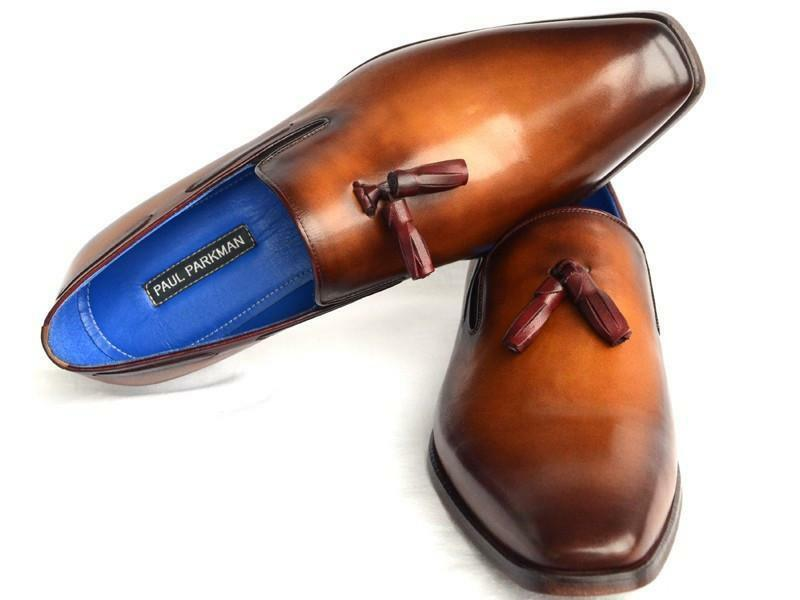 Paul Parkman Men's Tassel Loafer Walnut Leather Sole Leather Upper (ID 5141-WALN