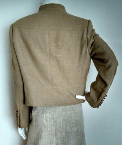 Blazer Textured Beige Jaeger Mélange Jacket soie laine Taille 16 vgc qg4SpwE