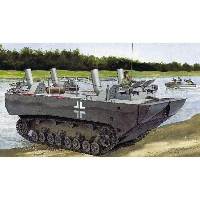 drake 6625 Panzerfahre Gepanzerte Landwassserschlepper Prödotyp NrI 1  35 skala