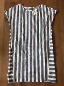 Madewell-stripe-play-button-back-tee-dress-Size-XXS-98-NWT