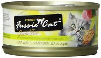 Fussie Cat Premium Tuna With Shrimp Canned Cat Food - 24 - 2.82-oz. Cans , New, on sale