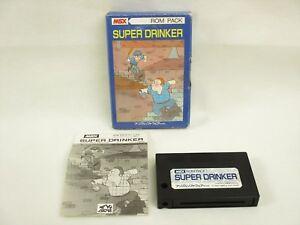 MSX-SUPER-DRINKER-Item-ref-0306-Import-Japan-Video-Game-msx