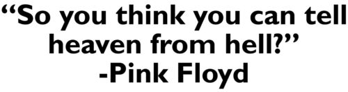 Think you can tell VINYL DECAL Pink Floyd Wish You Were Here bumber sticker car