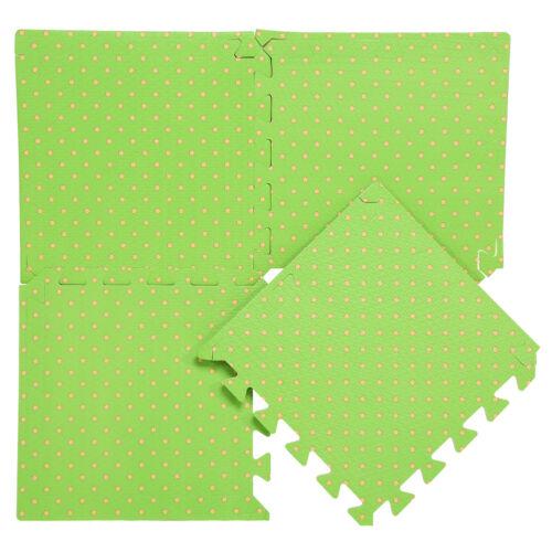 9x Spielmatte Satz Kinder Spielteppich Puzzlematte Schutzmatte 30x30cm Grün Life