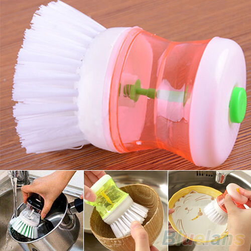 Kitchen Wash Tool Pot Pan Dish Bowl Cleaning Brush Scrubber Cleaner Novel Gadget