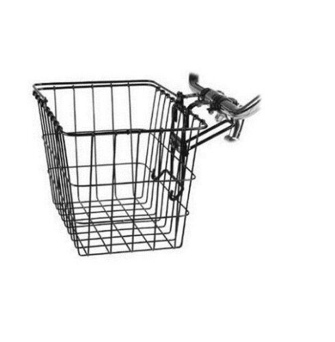 "Wald 3133 Front QR Basket 14.5/"" x 9.5/"" x 9/"" black removable front basket"