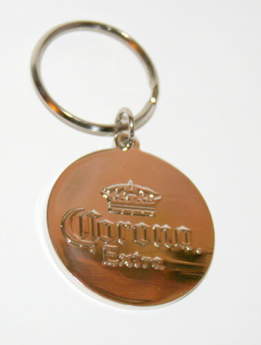 Corona Light Extra Beer Advertising Promo Metal Key Chain New 2 sided