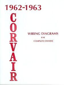 1962 1963 CORVAIR 500 700 900 WIRING DIAGRAM MANUAL | eBay