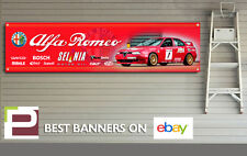 ALFA ROMEO 156 BTTC Sponsor Logo banner per Officina, Garage, Man Grotta,