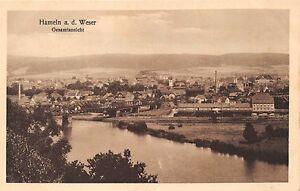 Hameln-un-D-Weser-Germania-Gesamtansicht-Foto-Cartolina-1928