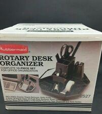 Rubbermaid Rotary Desk Supplies Organizer Black