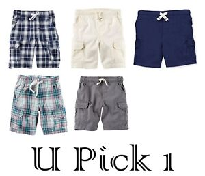082262e9c Image is loading Boys-Short-Carters-Pull-on-Shorts-Functional-Drawcord-