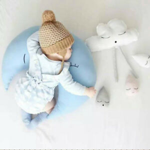 Baby Infant Soft Moon Shape Back Cushion Stuffed Plush Toys Pillow Photo Props G