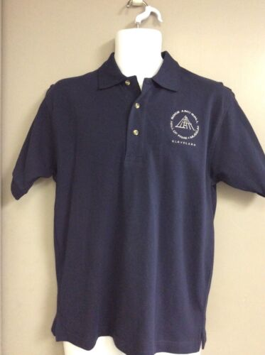 Size Small NEW w// TAG ~ ROCK and ROLL HALL OF FAME POLO SHIRT ~ NAVY BLUE T