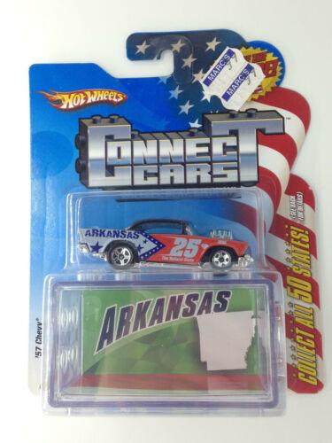 Hot Wheels 2008 Connect Cars Arkansas /'57 Chevy
