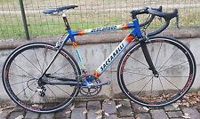Bici corsa alu-carbon Saccarelli Campagnolo Centaur blue 10S Vuelta road bike