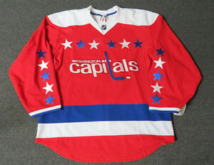 new concept 273a6 b3032 Details about New Washington Capitals Third Red Authentic Team Issued  Reebok 2.0 Hockey Jersey