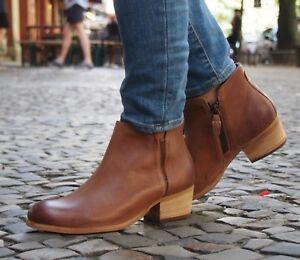 Clarks-Schuh-Maypearl-Ramie-dark-tan-Braun-Damen-Boot-Stiefelette-Ankle-Boot-NEU